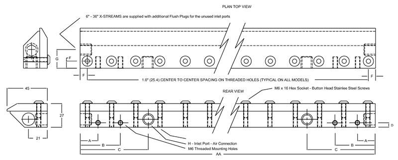 Compressed Air Blades : Silent stream™air blade™ air knife curtain blow off